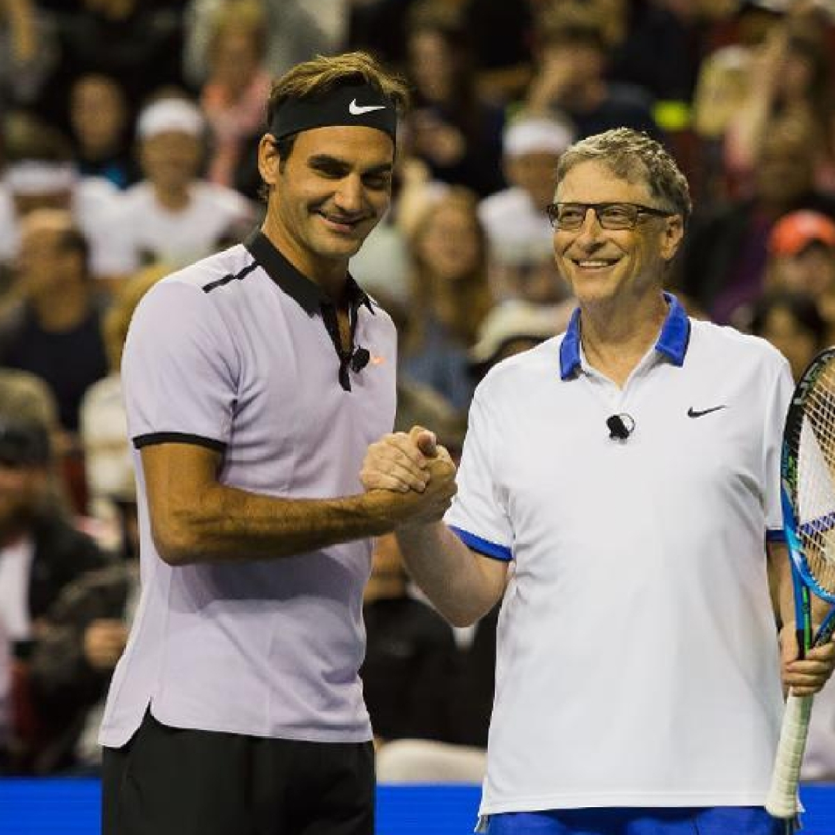 Roger Federer teams up with Bill Gates to take on Rafael Nadal and Trevor Noah in celebrity exhibition match