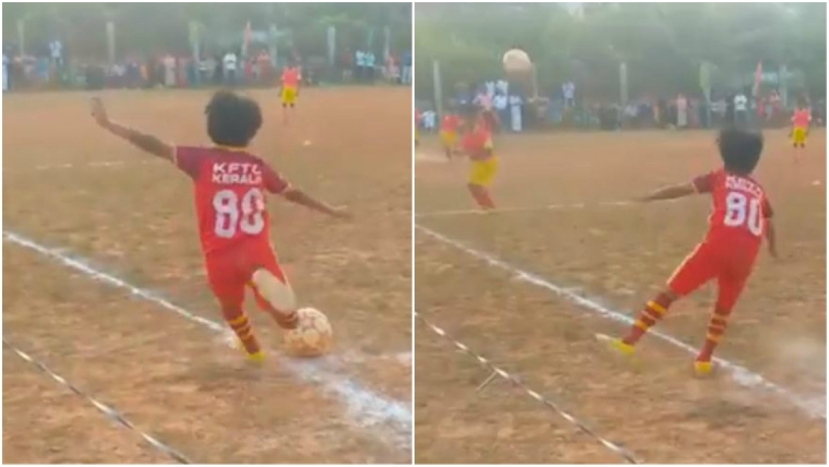 Kerala's 10-year-old Danish P.K. scored this beautiful goal