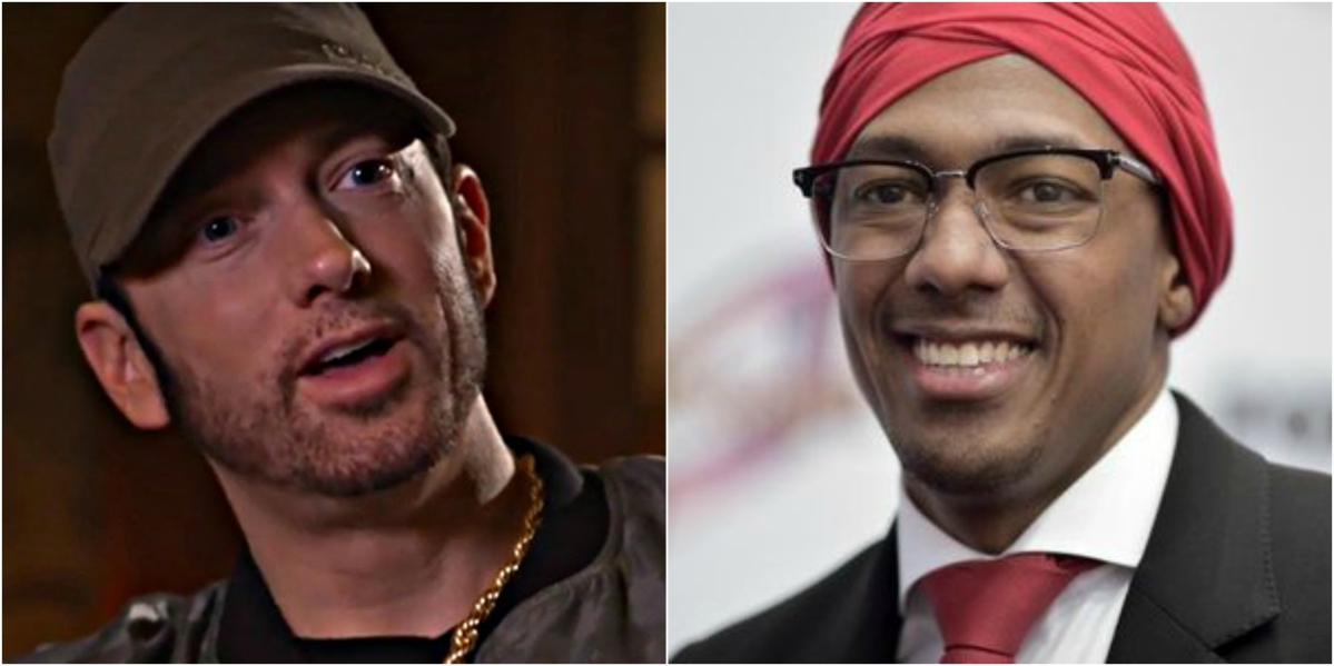 Eminem (right) and Nick Cannon