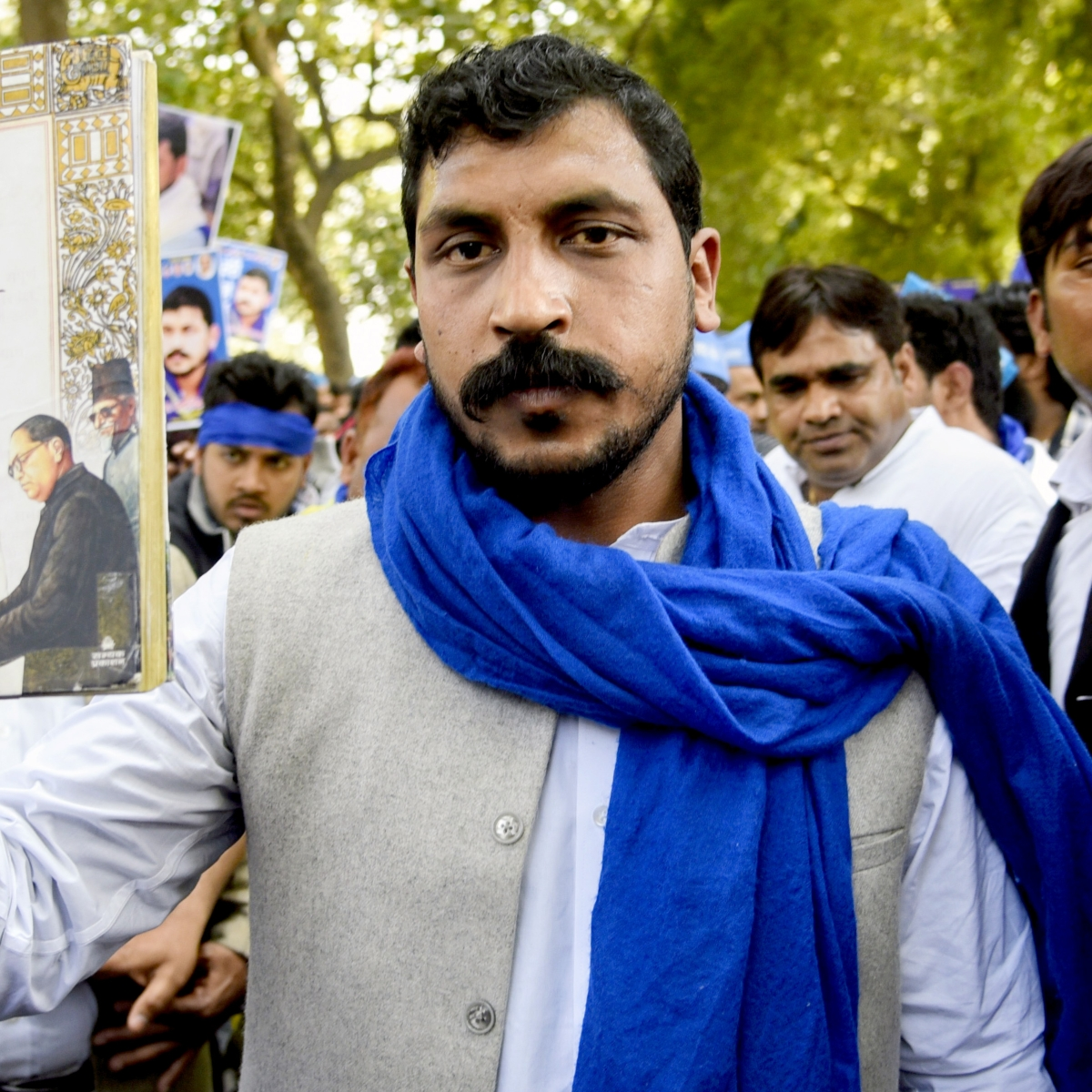 Bhim Army chief Chandrashekhar Azad  leads 'Aarakshan Bachao' march; calls for Bharat Bandh on Feb 23