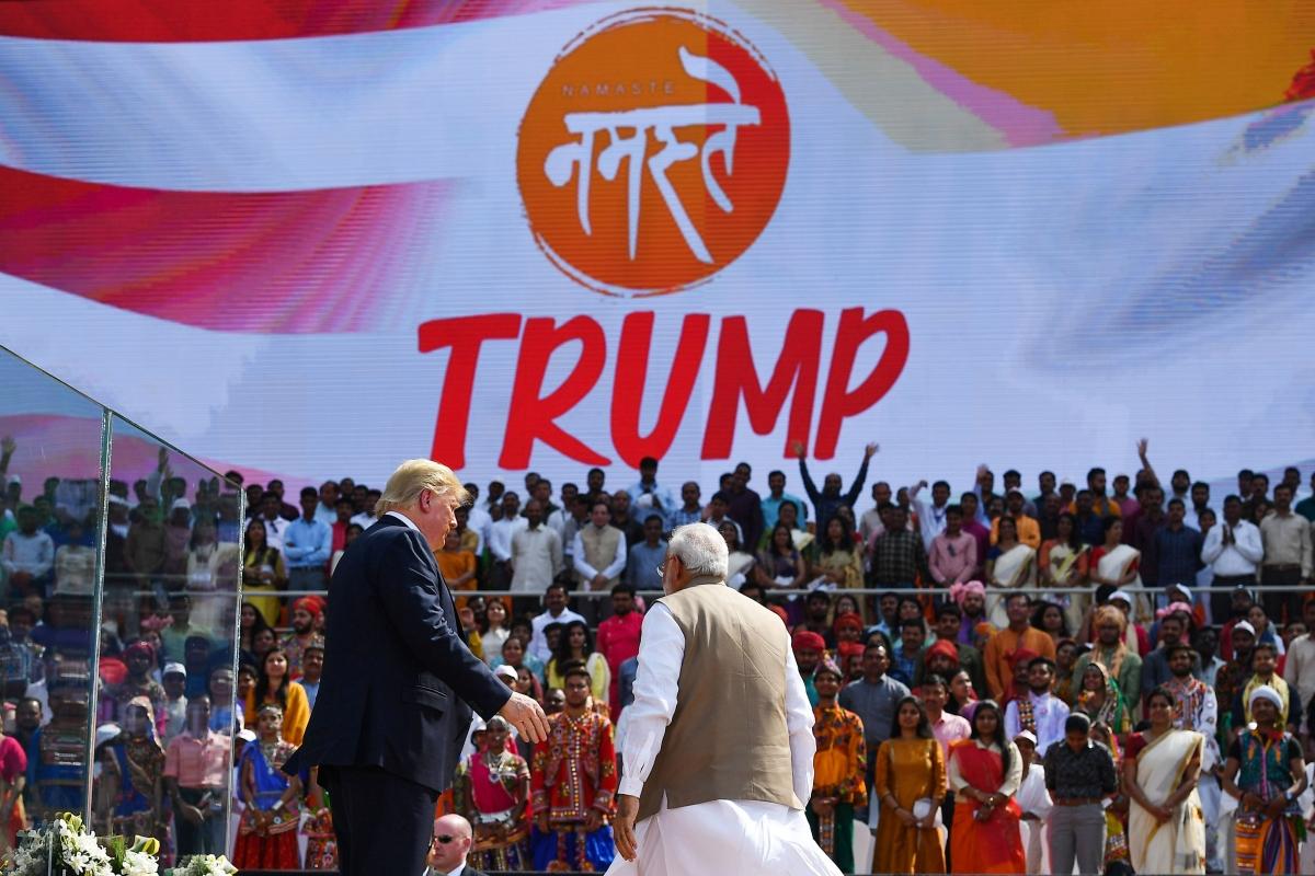 'My friend, India's friend': PM Modi hails US President at 'Namaste Trump' event