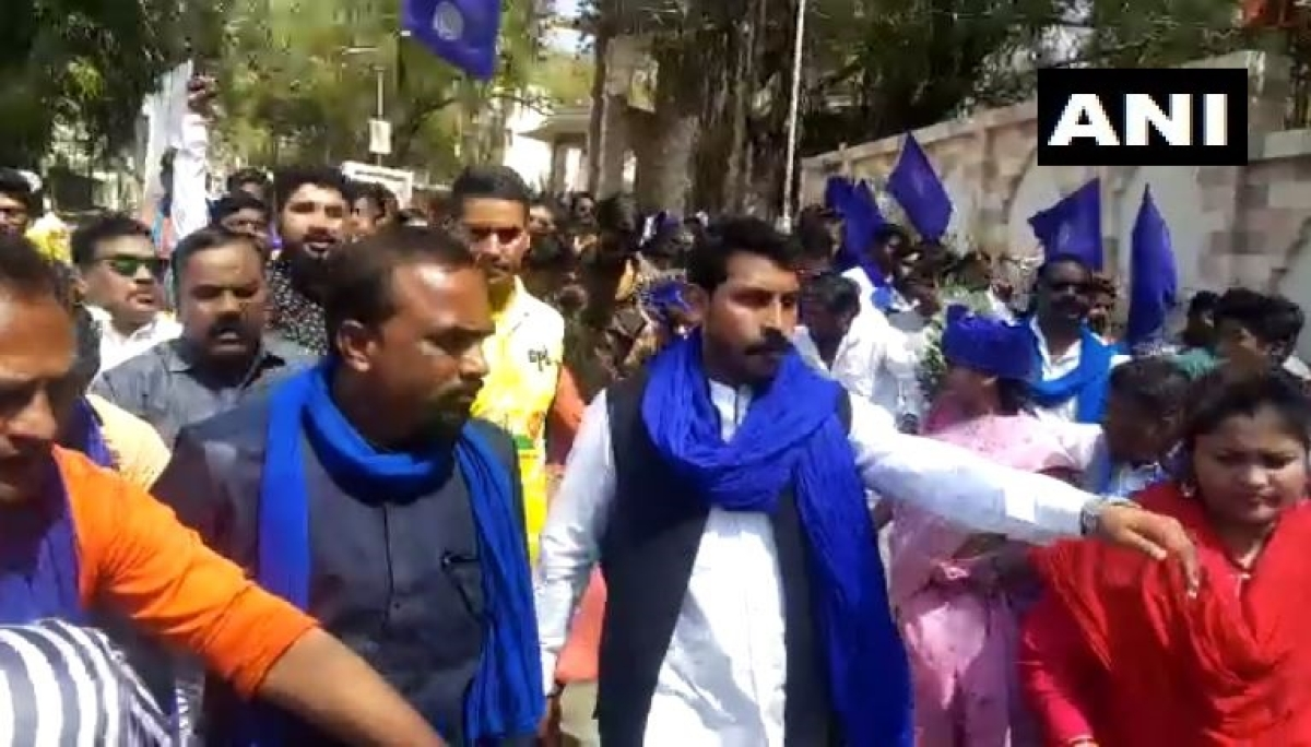 Bhim Army chief Chandrashekhar Azad leads rally against SC ruling on reservations in Aurangabad