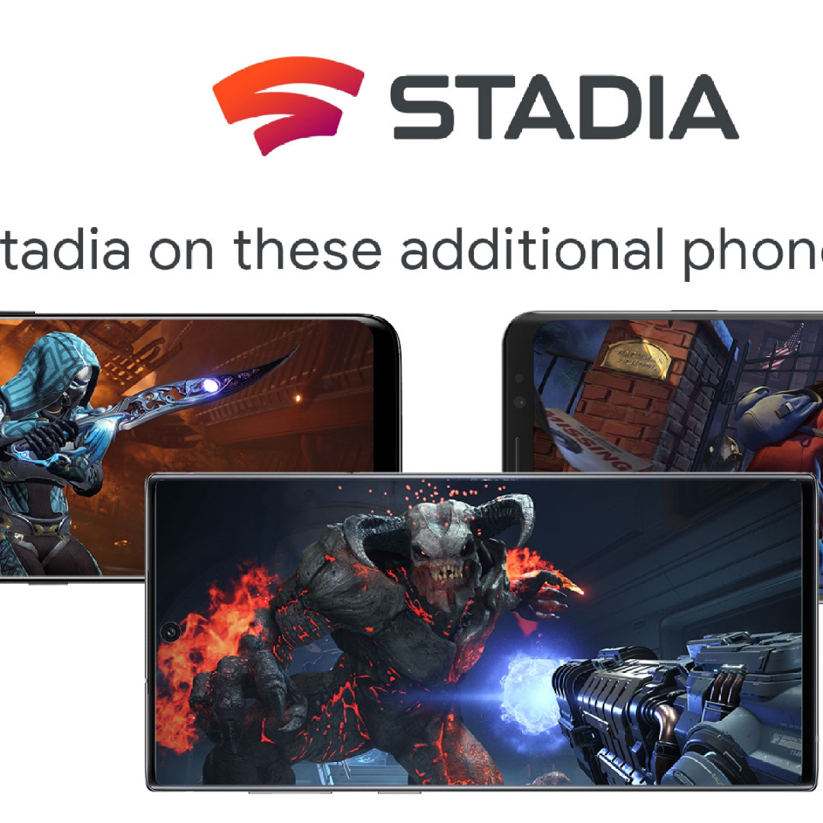 Google Stadia coming to Samsung, Asus, more phones