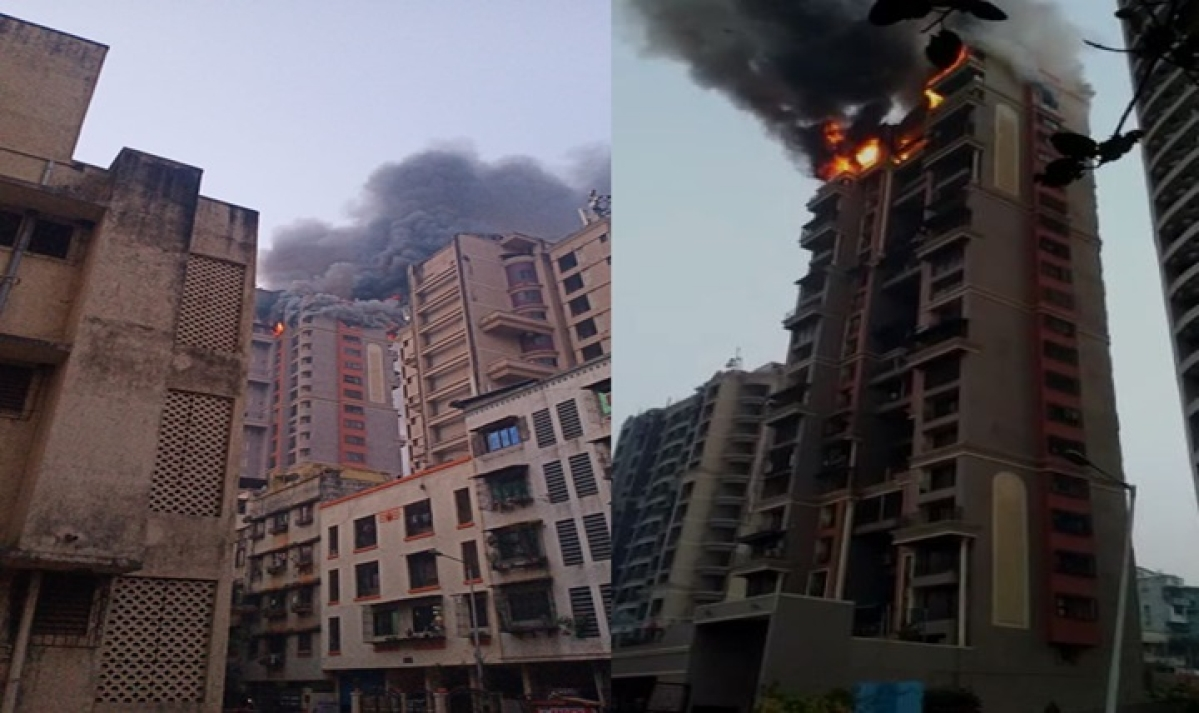 Watch: Fire breaks out at Sector 44 Nerul Seawoods in Navi Mumbai