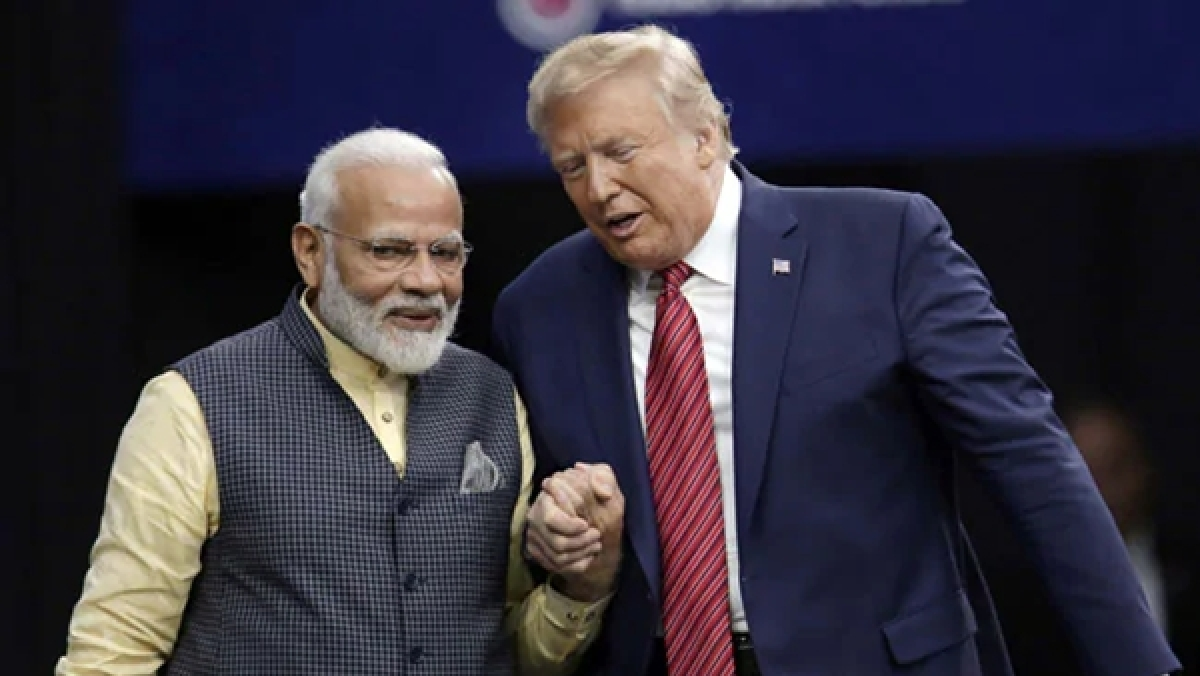 India's PM Narendra Modi with US President Donald Trump.