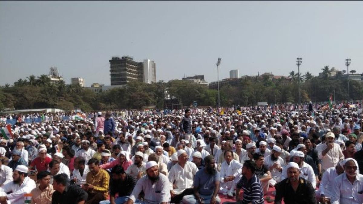 Mumbai Protest: People gathered at Azad Maidan to protest against CAA-NRC-NPR