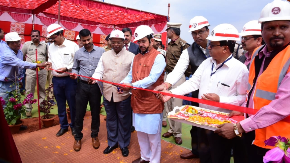 Pralhad Joshi lays foundation stone of crusher and conveyor system at NALCO