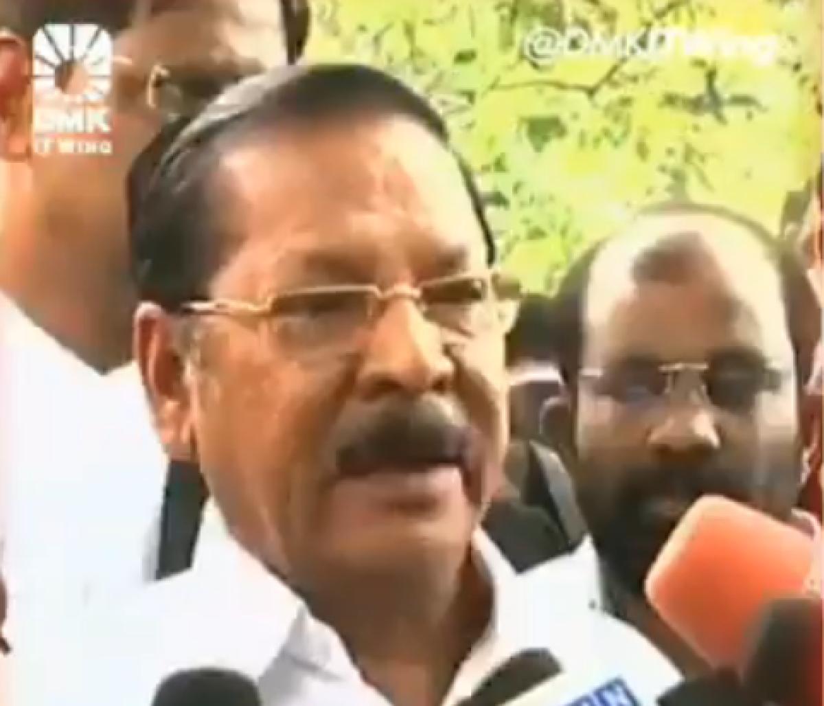 DMK MP RS Bharathi