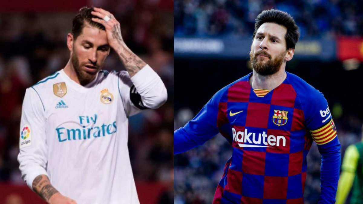 Sergio Ramos (L), Lionel Messi