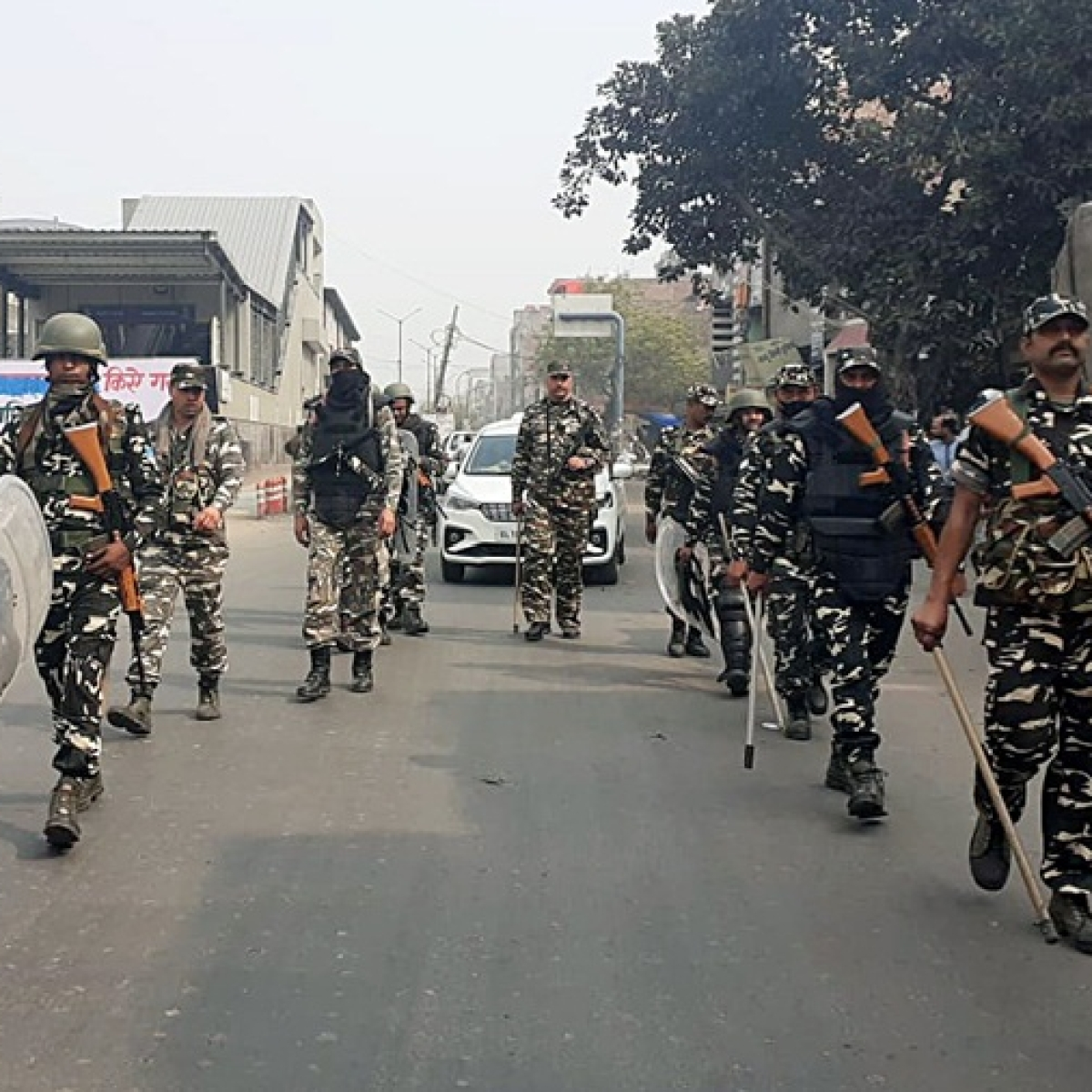 Delhi Violence: Security forces conduct flag march in areas of North-East Delhi