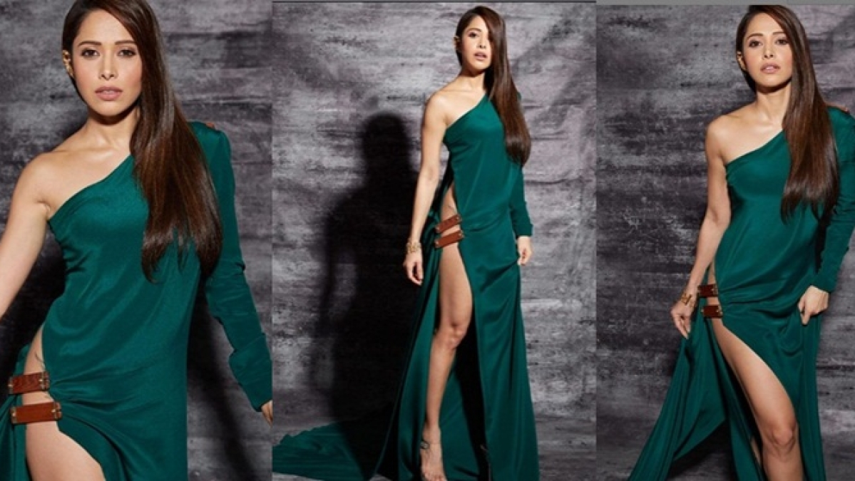 'What I want to wear is my right': Nushrat Bharucha on her pelvage revealing green dress
