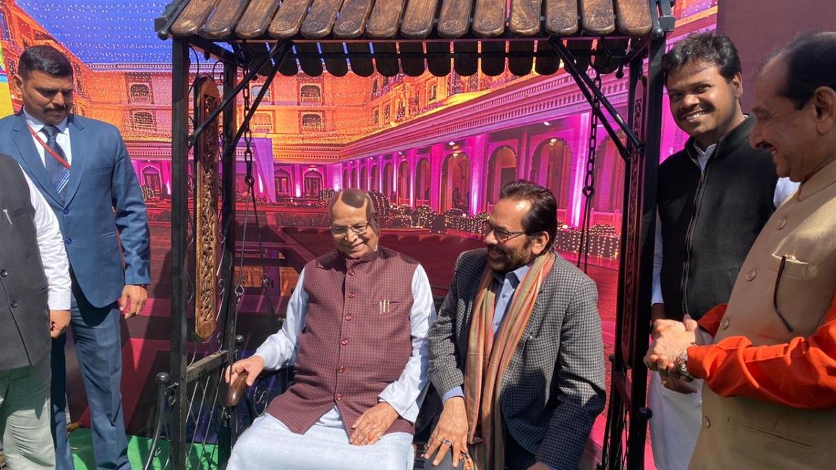 Governor Lalji Tandon and union minority affairs minister Mukhthar Abbas Naqvi at Vijay Nagar ground on Sunday.