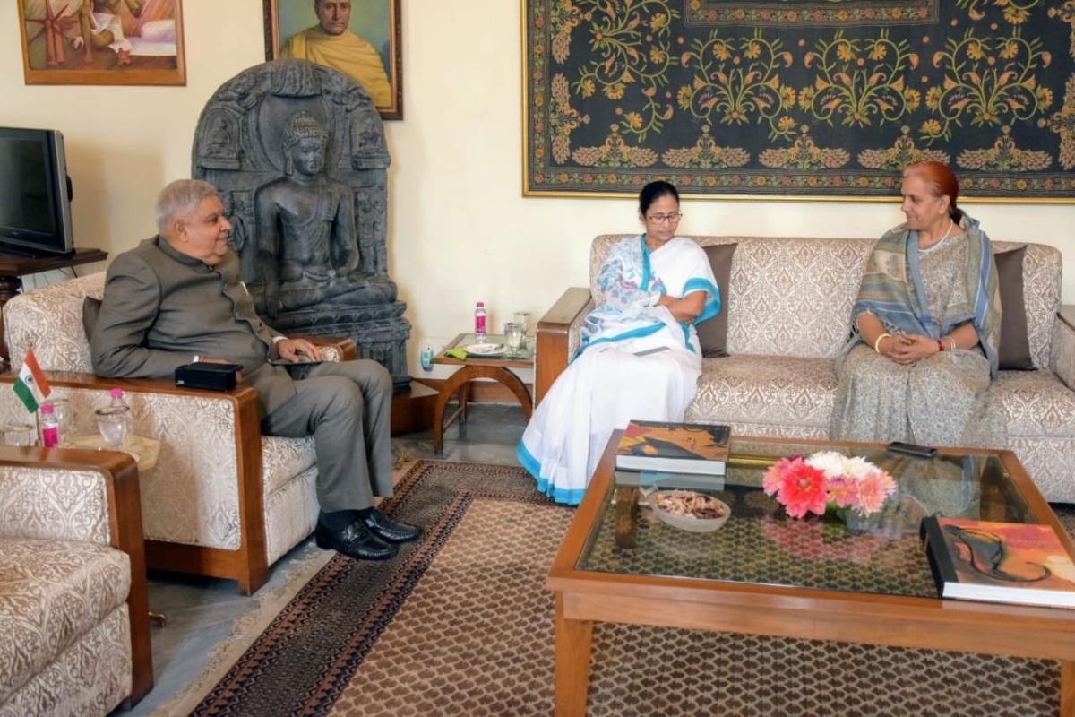 WB CM Mamata Banerjee and Guv Jagdeep Dhankhar engage in 'extremely satisfying' hour-long interaction
