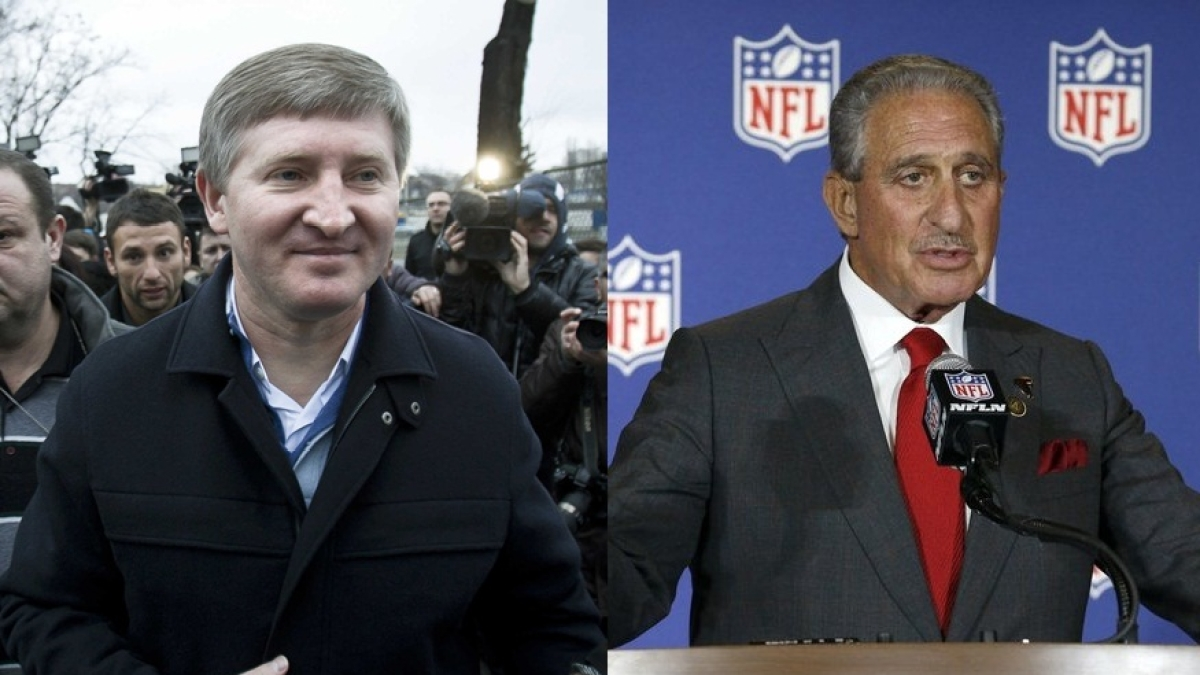 Rinat Akhmetov (on the left) and Arthur Blank (on the right)