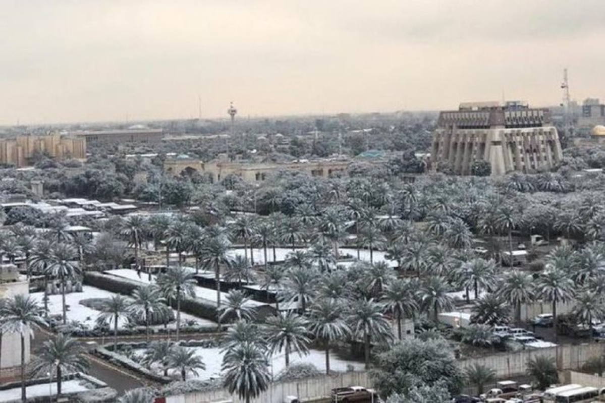 Rare snowfall carpets Baghdad , second time in century