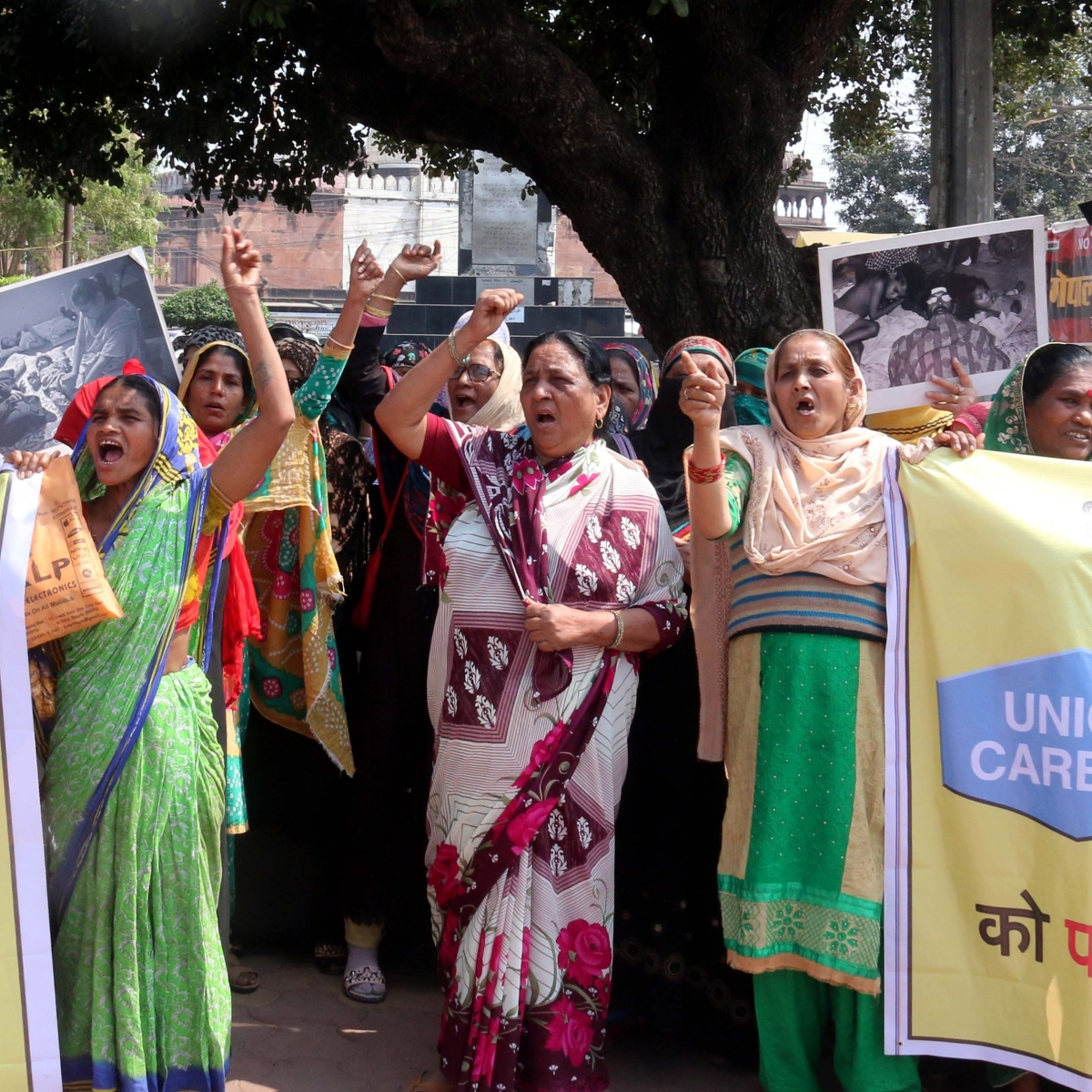 Bhopal Gas tragedy survivors take to streets as Trump arrives
