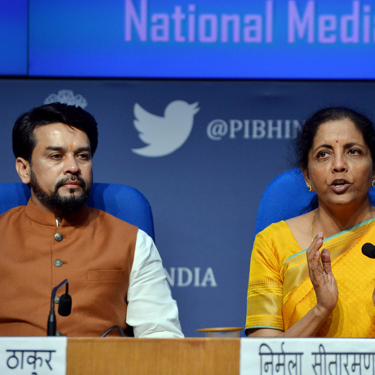 Bored with the pressers? Nirmala Sitharaman and Anurag Thakur's third press conference in just ten sentences