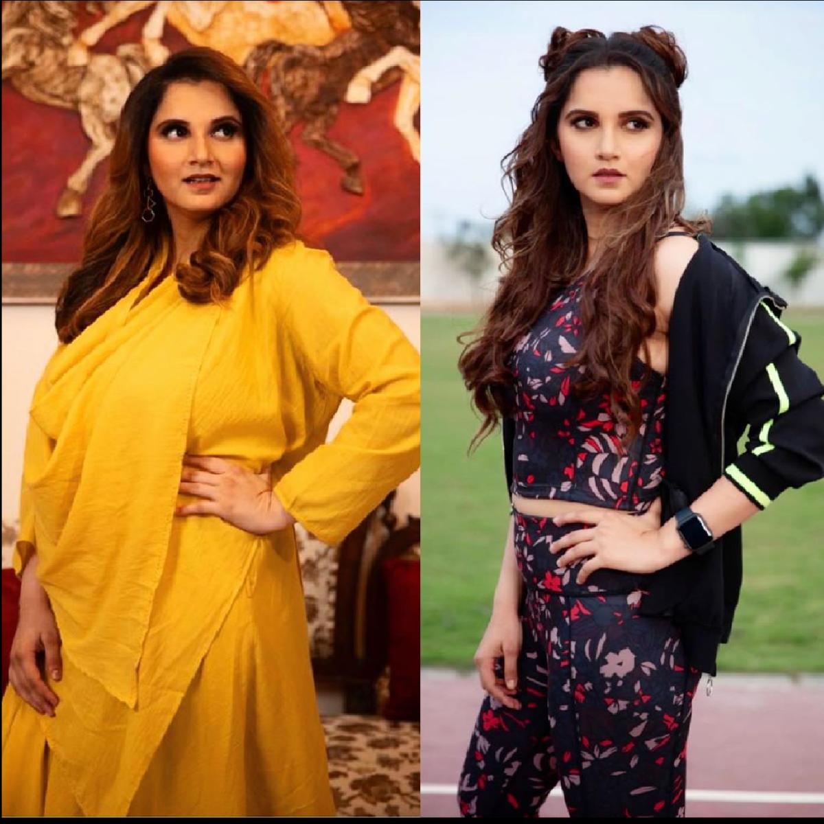 89 kilos vs 63 kilos: Sania Mirza shares photo of incredible transformation