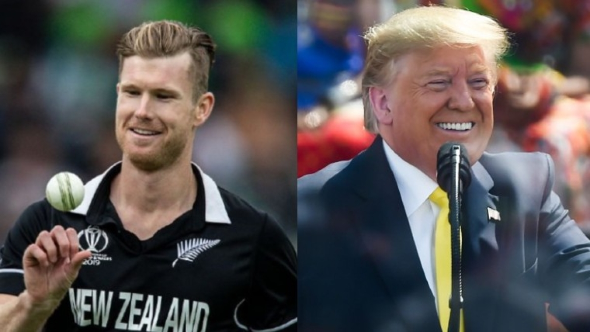 'He can't remember which US states have southern border': New Zealand all-rounder Jimmy Neesham mocks Donald Trump for 'Soochin' gaffe