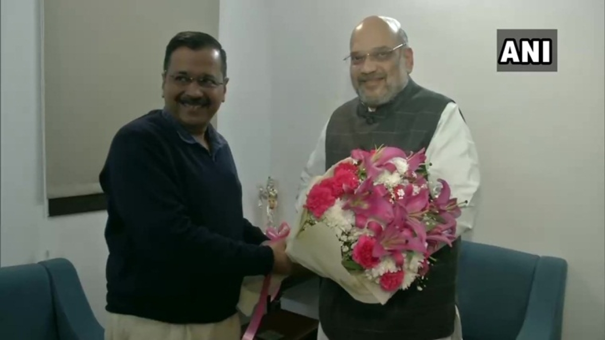 'We will work together...', says Arvind Kejriwal after 'good and fruitful meeting' with Amit Shah