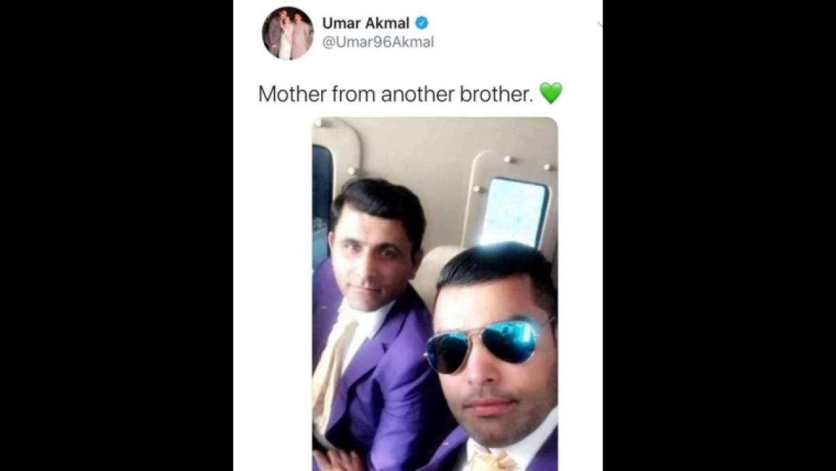 'Mother from another brother': Umar Akmal's comedic caption solicits brutal trolls on Twitter