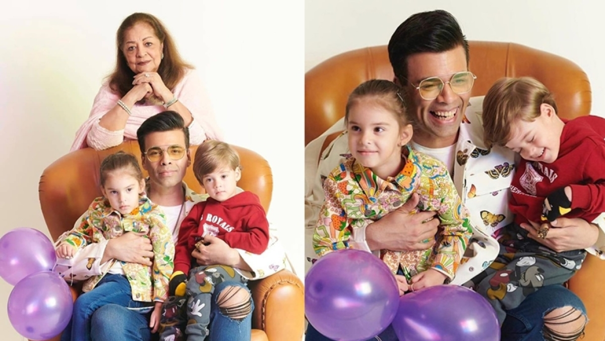 Watch video: Karan Johar's twins Yash and Roohi turn hairstylists for grandma Hiroo