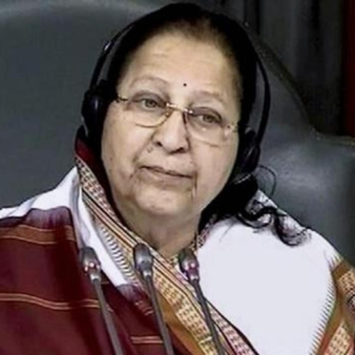 Former Lok Sabha speaker Sumitra Mahajan says it was good to see Muslim women in large number attending protests
