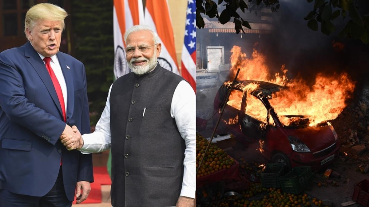'Delhi is burning':  Twitter calls out PM Modi for sharing Trump Gujarat video