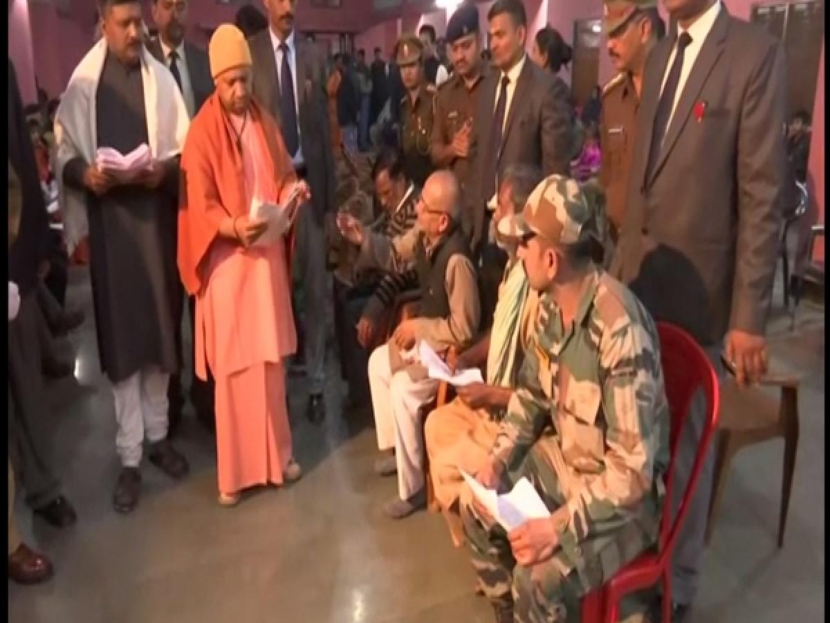 UP CM Yogi Adityanath holds 'Janta Darbar' in Gorakhpur to address grievances of people