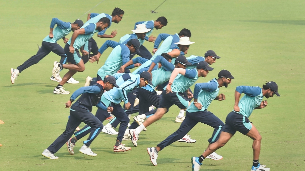 Indian cricket team train ahead of second Test against New Zealand at Hagley Oval, Christchurch.