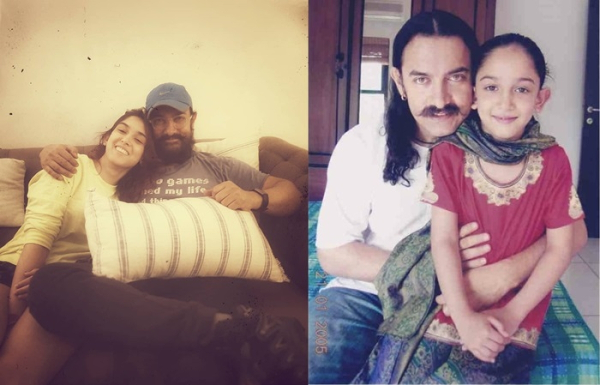 Aamir Khan's daughter shares adorable 2004 picture with Dad, netizens reply with mushy comments