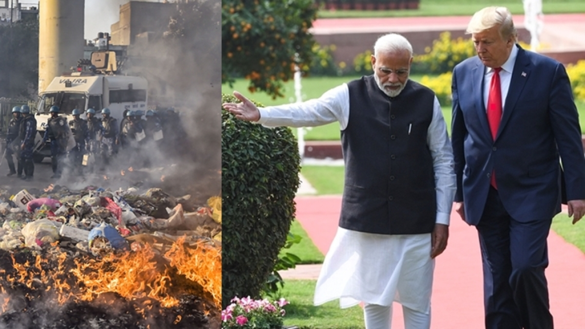 Trump in Delhi and CAA Violence - a tale of one city and two events