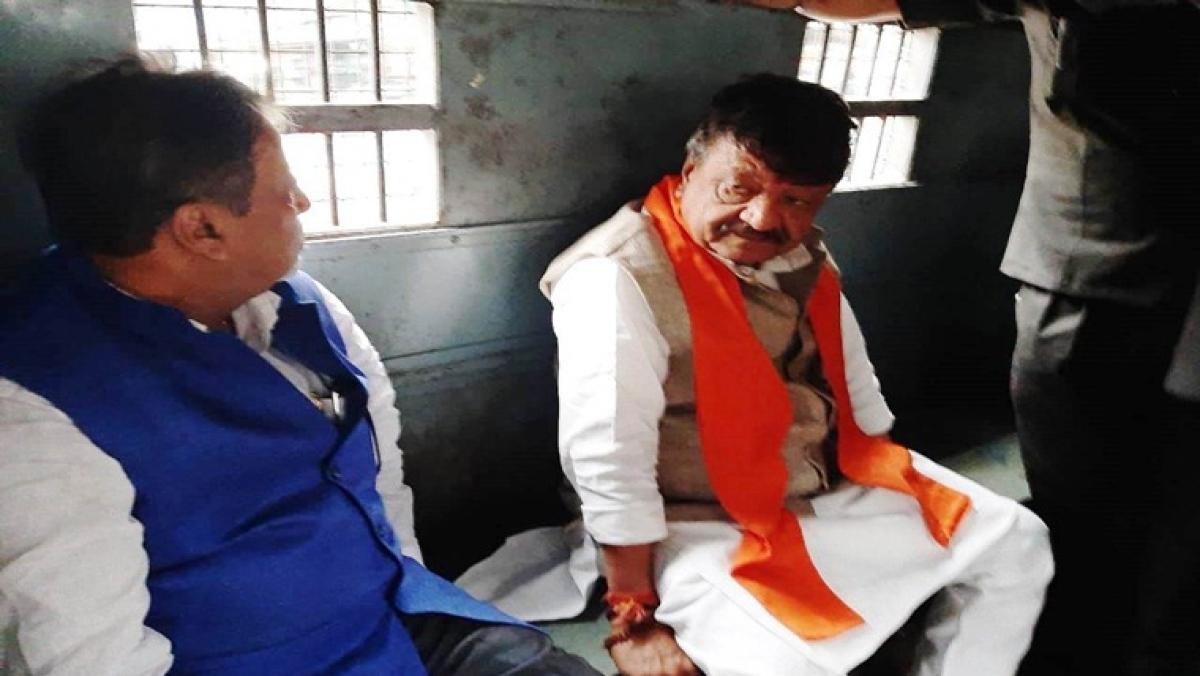 BJP General Secretary Kailash Vijaywargiya and National Executive Committee member Mukul Roy