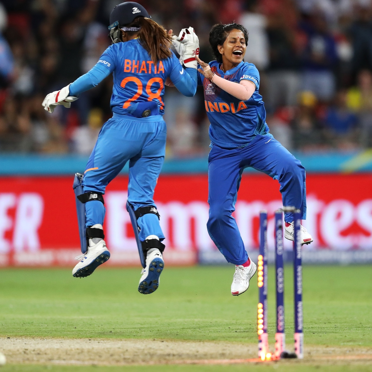 ICC Women's T20 World Cup AUS vs IND: Poonam Yadav, Taniya Bhatia star as India win by 17 runs