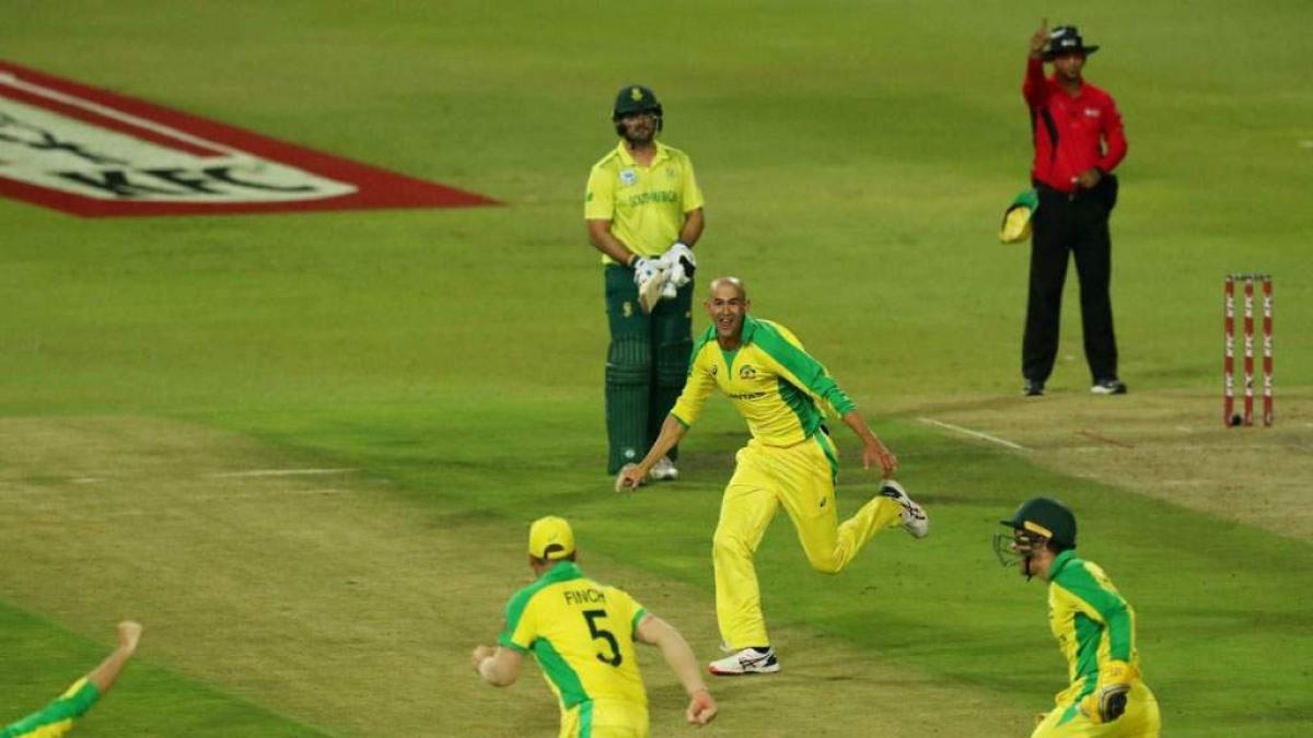 AUS vs SA: Australia crush Proteas by 107 runs to win first T20I