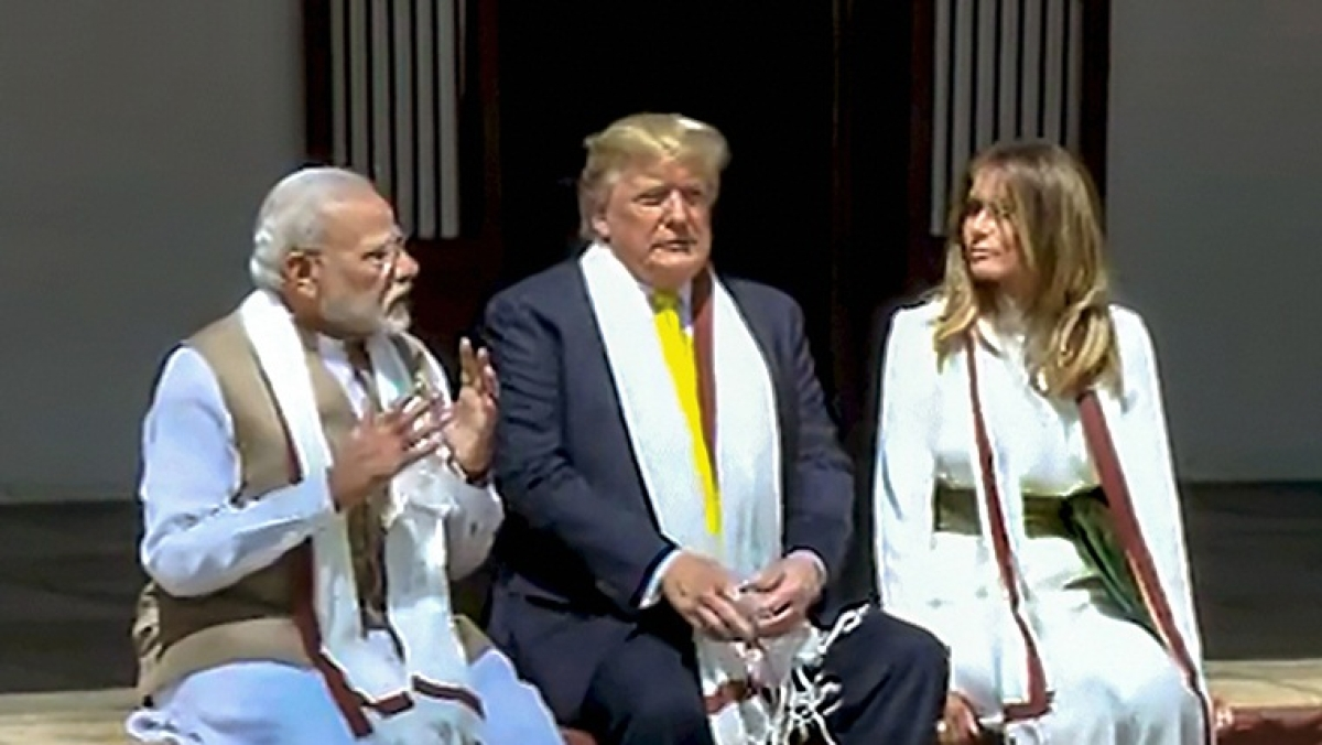 Mahatma Who? Trump thanks PM Modi in visitor's book at Sabarmati Ashram