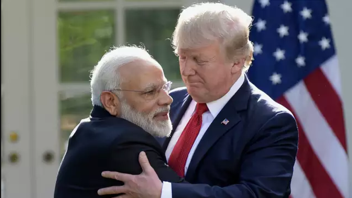 US President Donald Trump with India PM Narendra Modi