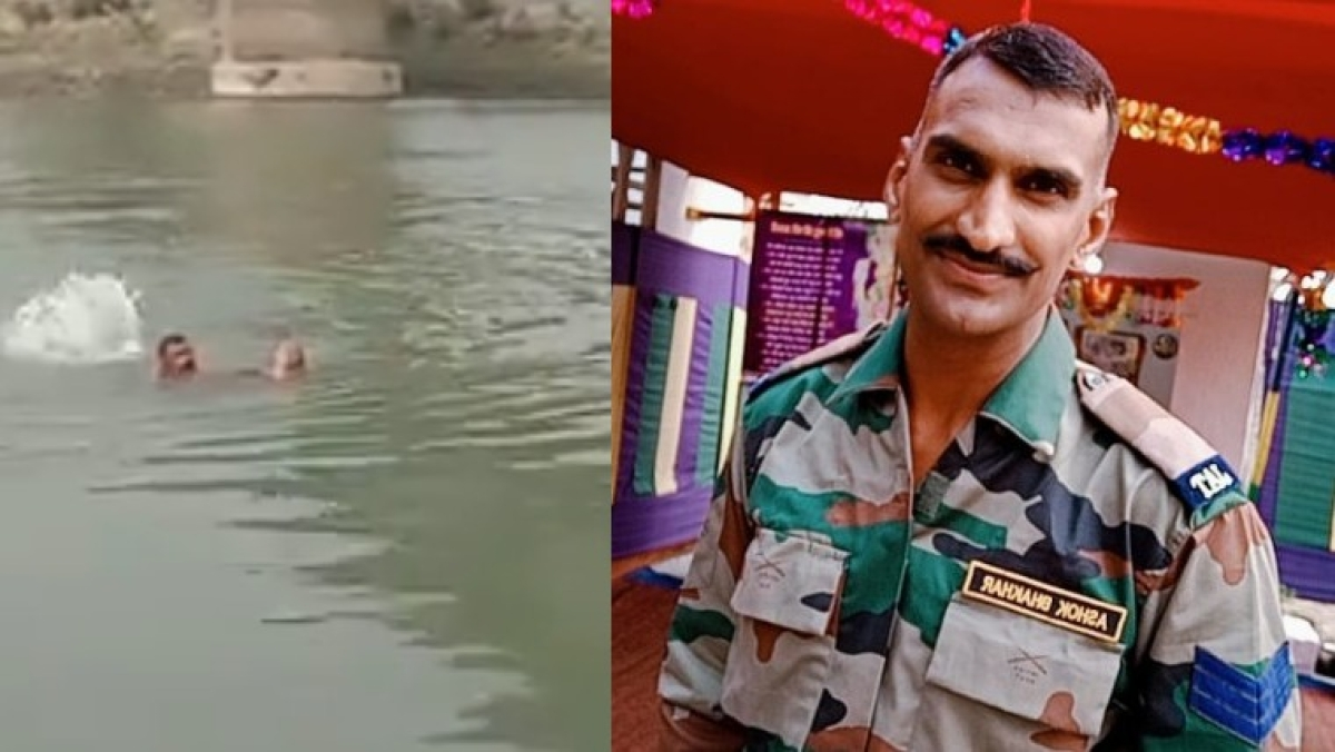Watch: Army man rescues woman from drowning in Assam