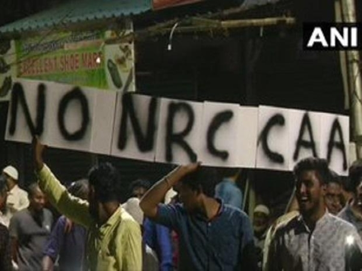 Anti-CAA protest: Police detained over 100 protesters after a scuffle with them during a demonstration in Chennai