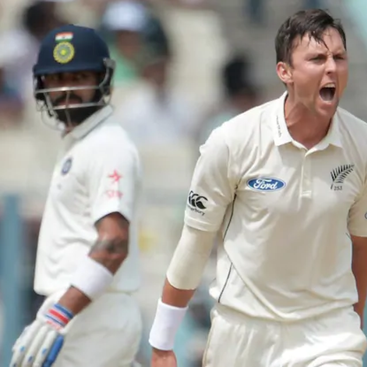NZ vs IND Test series: Boult out to take Kohli's wicket