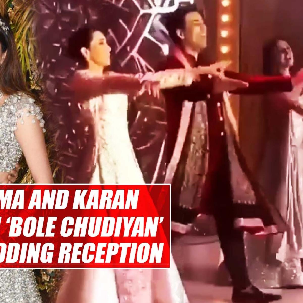 Kareena, Karisma and Karan Johar perform on 'Bole Chudiyan' at Armaan Jain's wedding reception