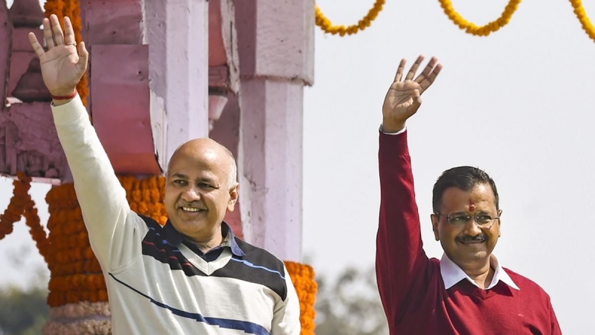 Manish Sisodia and Arvind Kejriwal