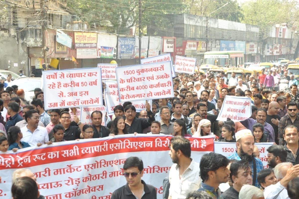 Indore: No Metro rail from here, say Kothari Market bizmen