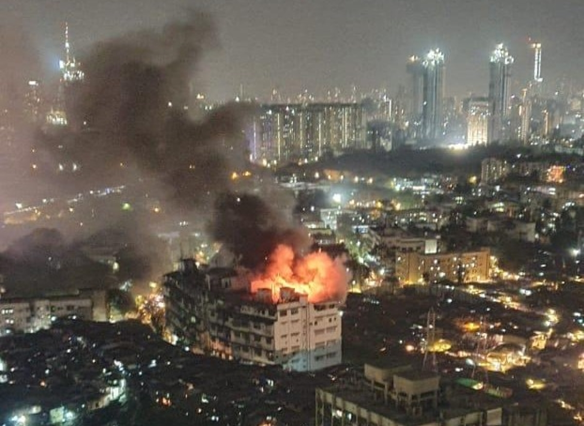 Mumbai: Level 2 fire broke out at closed godown at Milan Industrial Estate