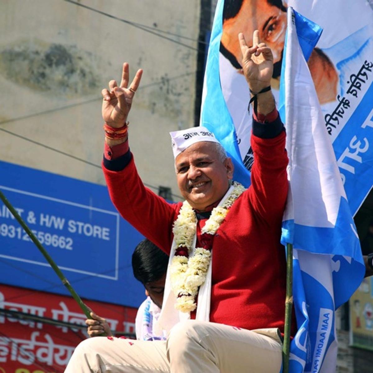 Delhi Election Results 2020: Deputy CM Manish Sisodia trails by 1,579 votes, faces stiff battle against BJP's Ravinder Negi