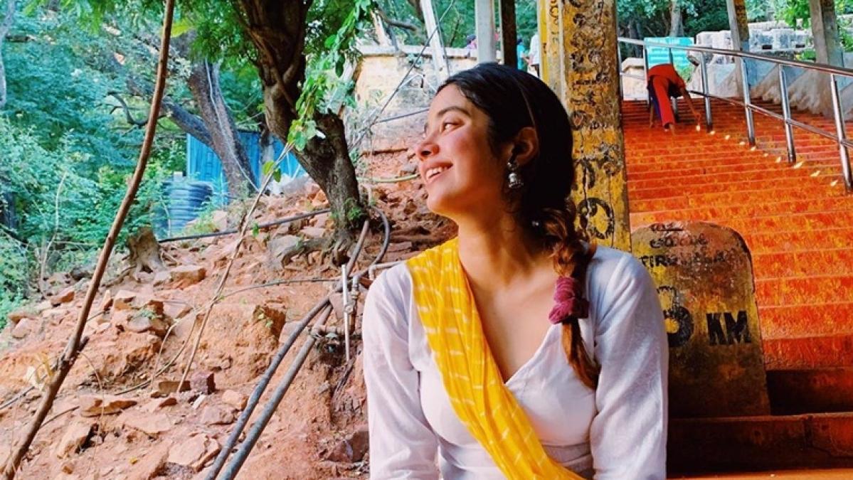 Ahead of major releases, Janhvi Kapoor offers prayers at Tirupati Balaji temple