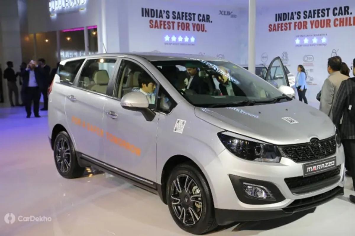 Mahindra Marazzo With Volvo-like Active Safety Technology Showcased At Auto Expo 2020
