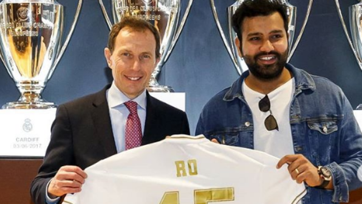 'Thank you for the experience': Real Madrid gifts Rohit Sharma customised jersey