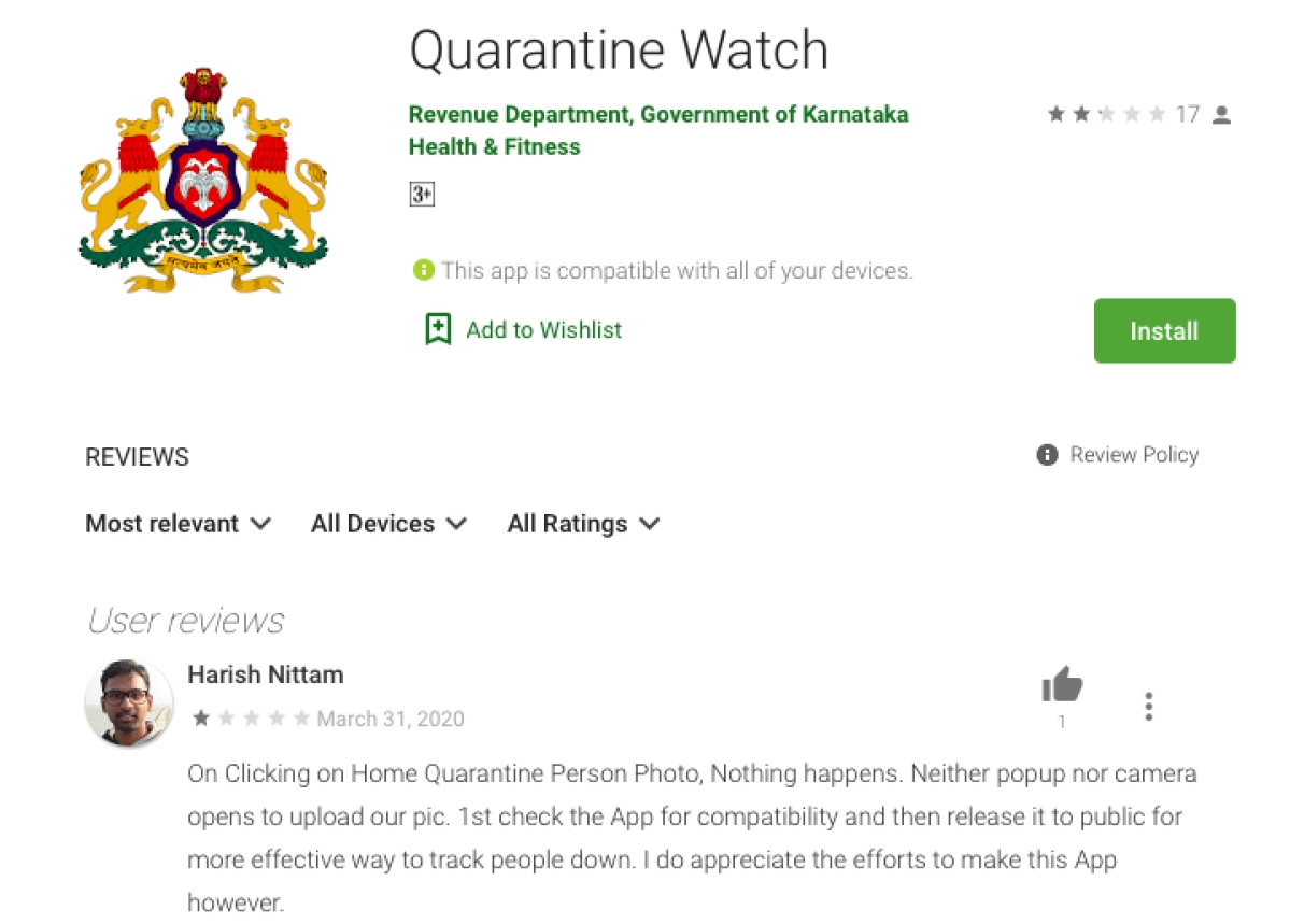 Karnataka's Big Brother selfie app fails: Home-quarantined people unable to take pictures, upload images