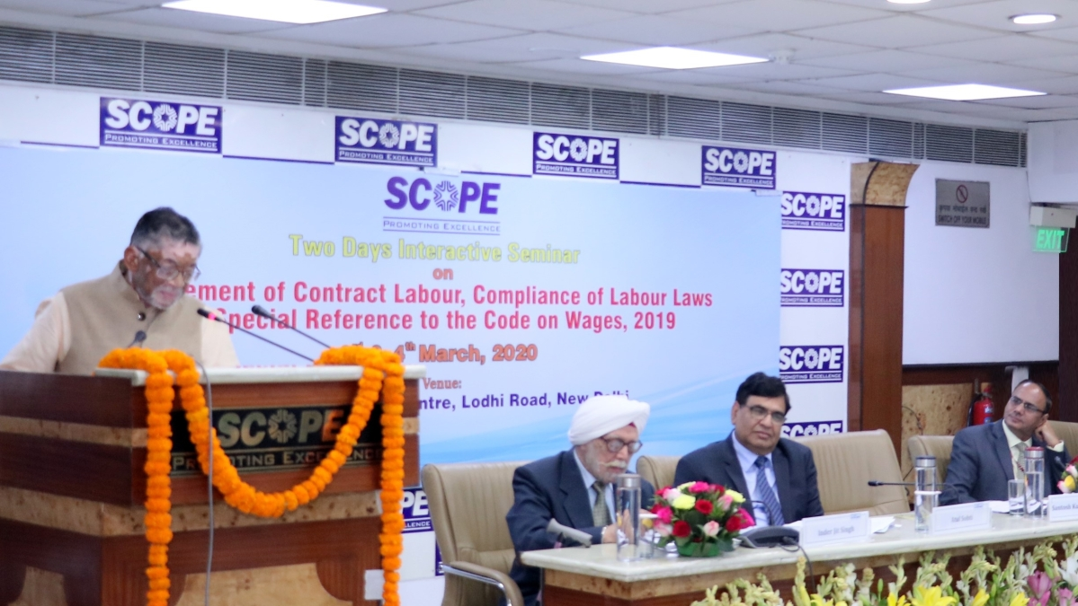 SCOPE organises programme on Management of Contract Labour